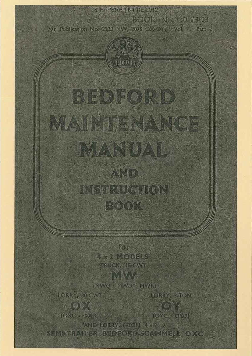 BEDFORD MAINTENANCE MANUAL