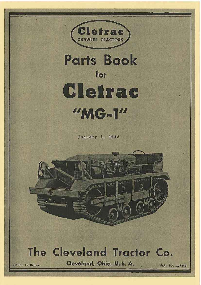 CLETRAC PARTS BOOK