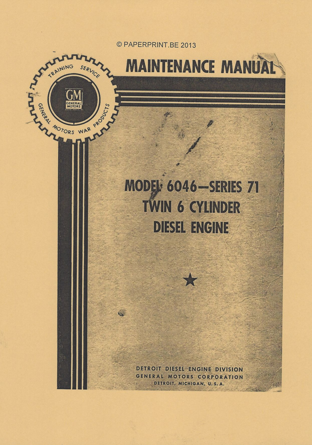 GENERAL MOTORS TWIN DIESEL MAINTENANCE MANUAL US