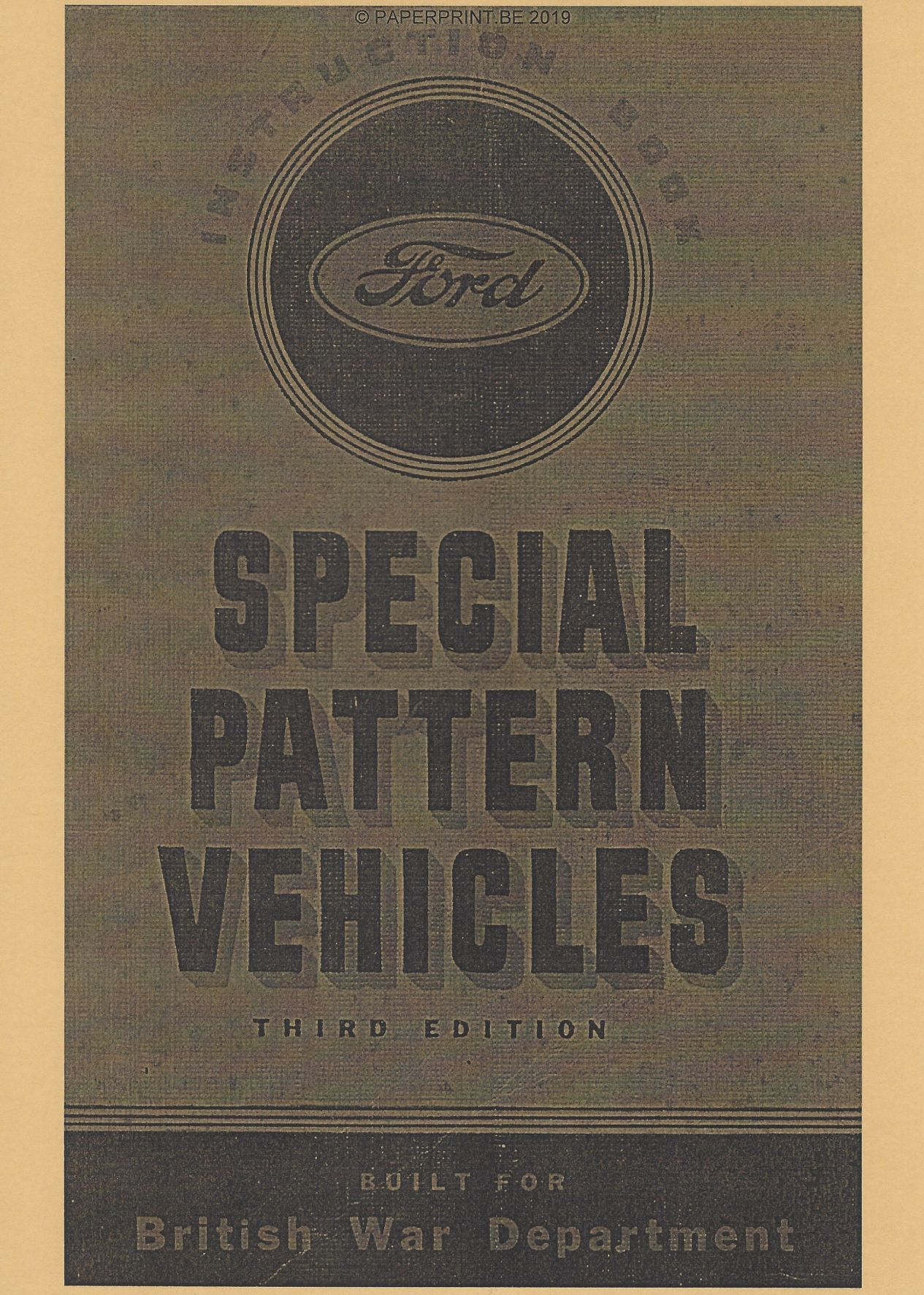 INSTRUCTION BOOK FORD SPECIAL PATTERN VEHICLES