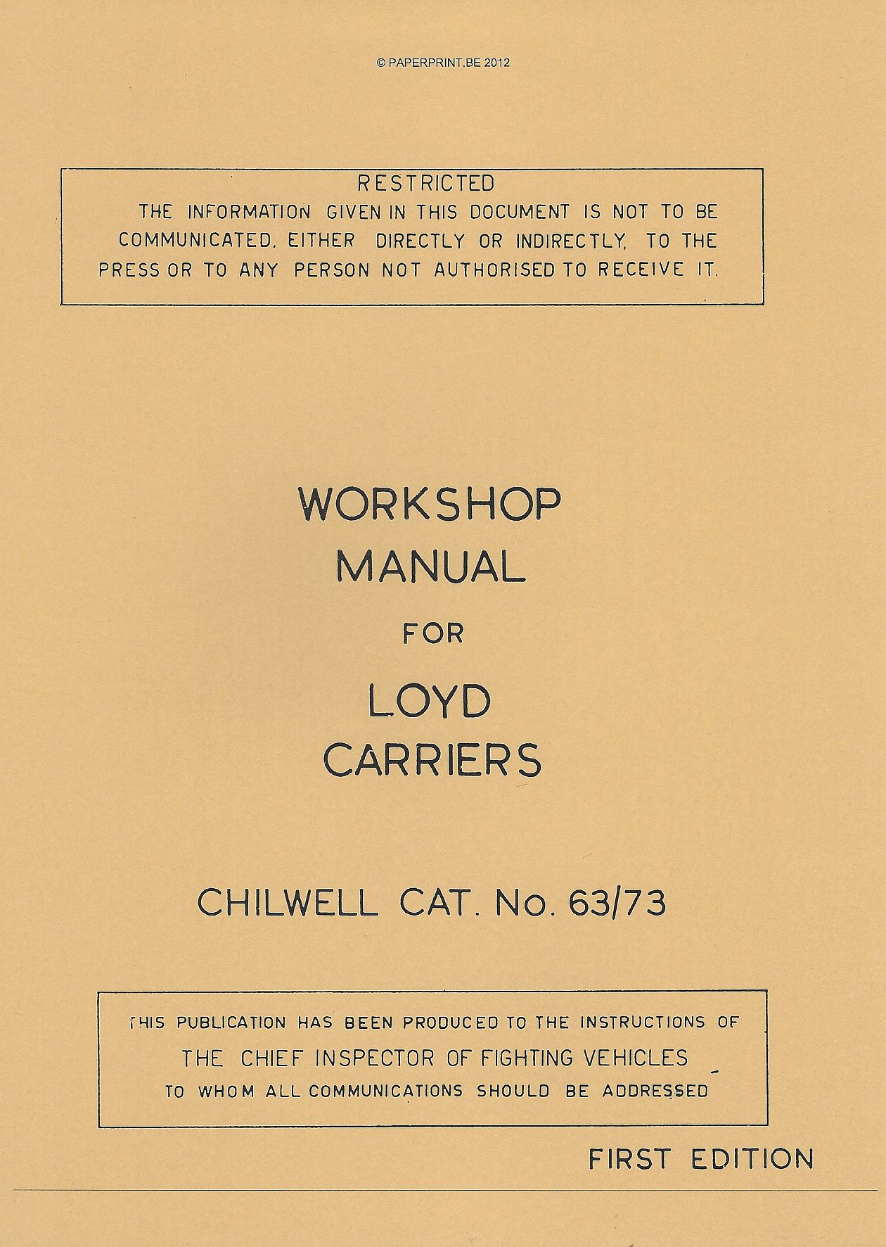 LOYD CARRIER WORKSHOP MANUAL