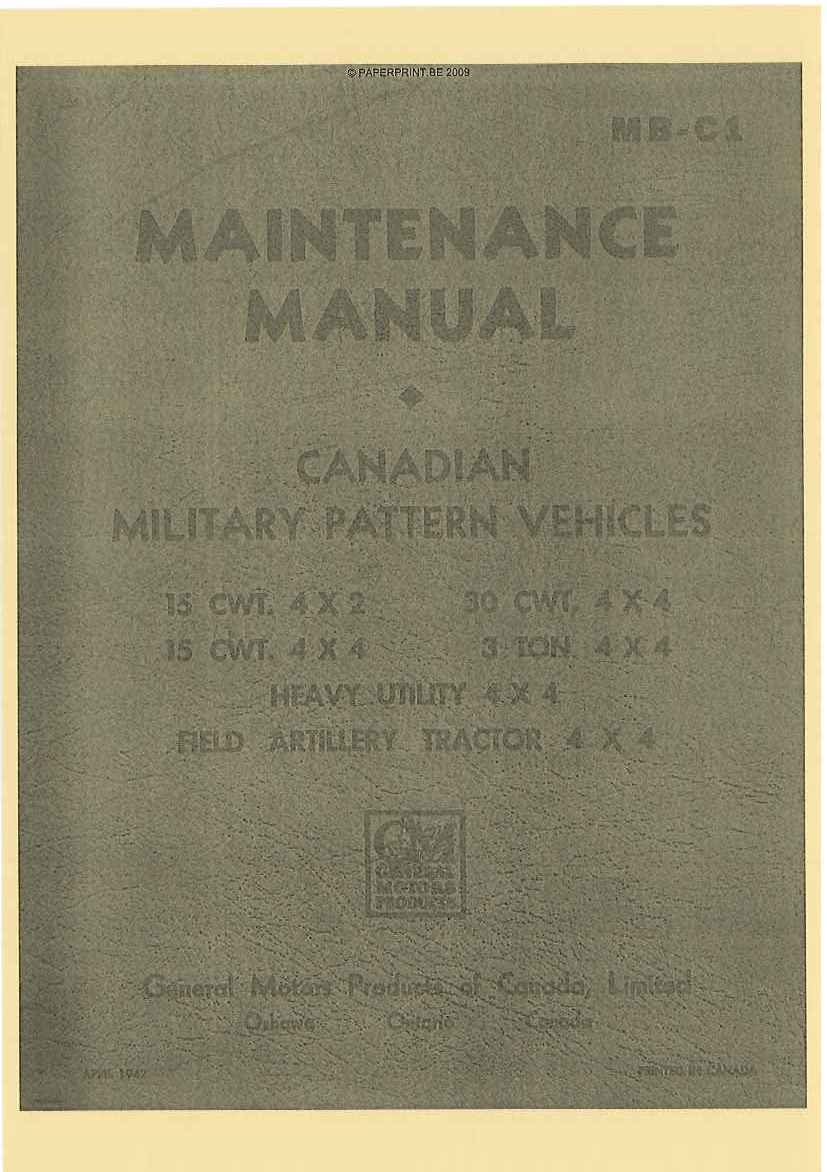 MB-C1 CANADIAN MILITARY PATTERN VEHICLES