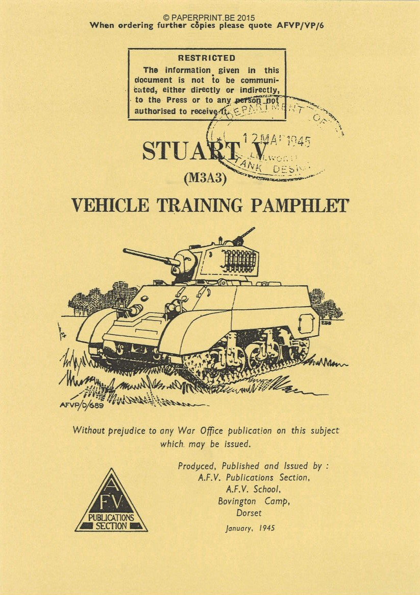 STUART V (M3A3) VEHICLE TRAINING PAMPHLET