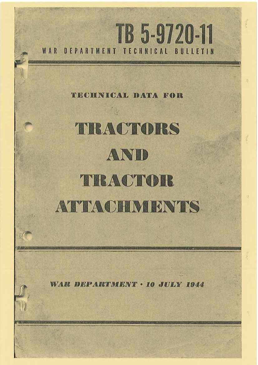 TB 5-9720-11 TECHNICAL DATA FOR TRACTORS AND ATTACHMENTS