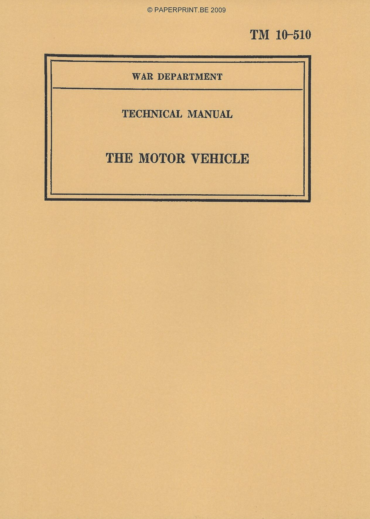 TM 10-510 US THE MOTOR VEHICLE