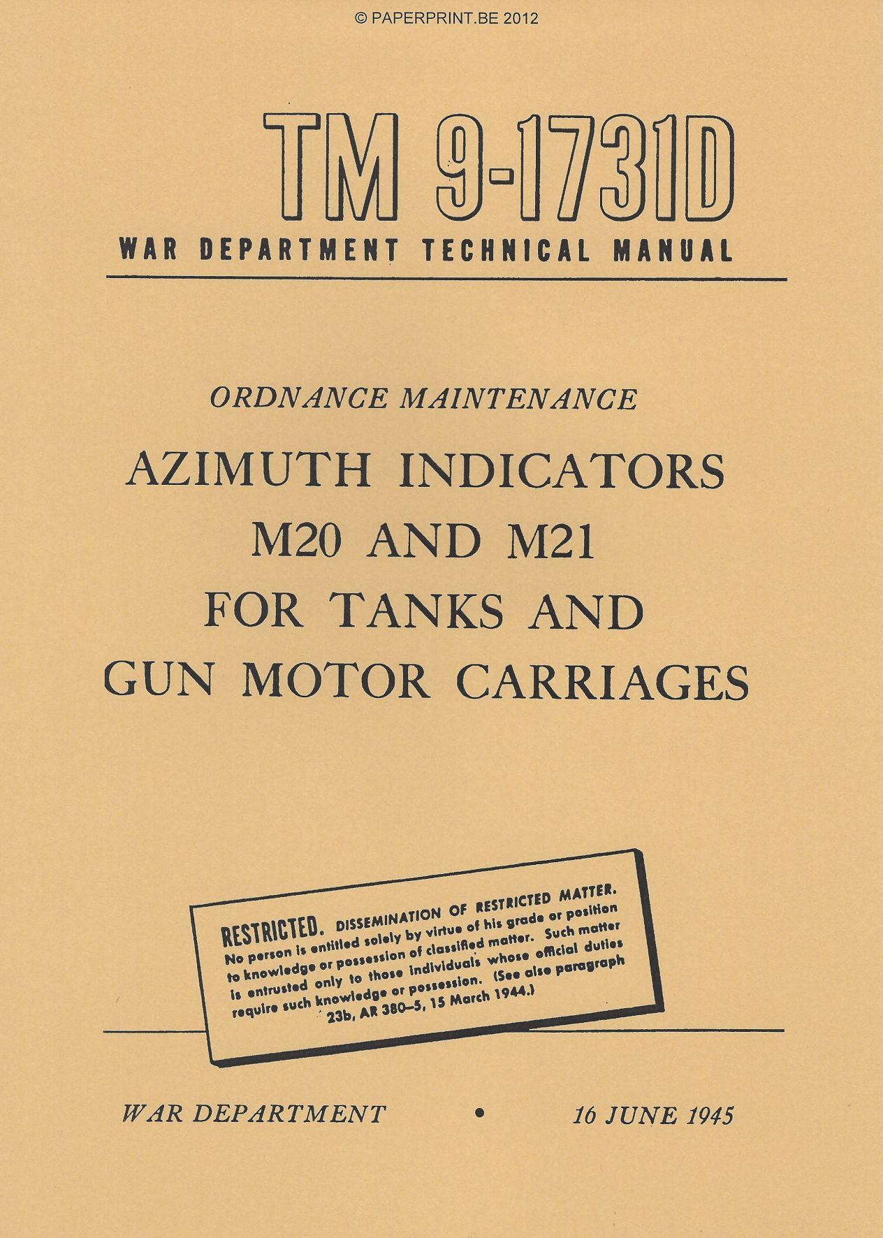 TM 9-1731D US AZIMUTH INDICATORS