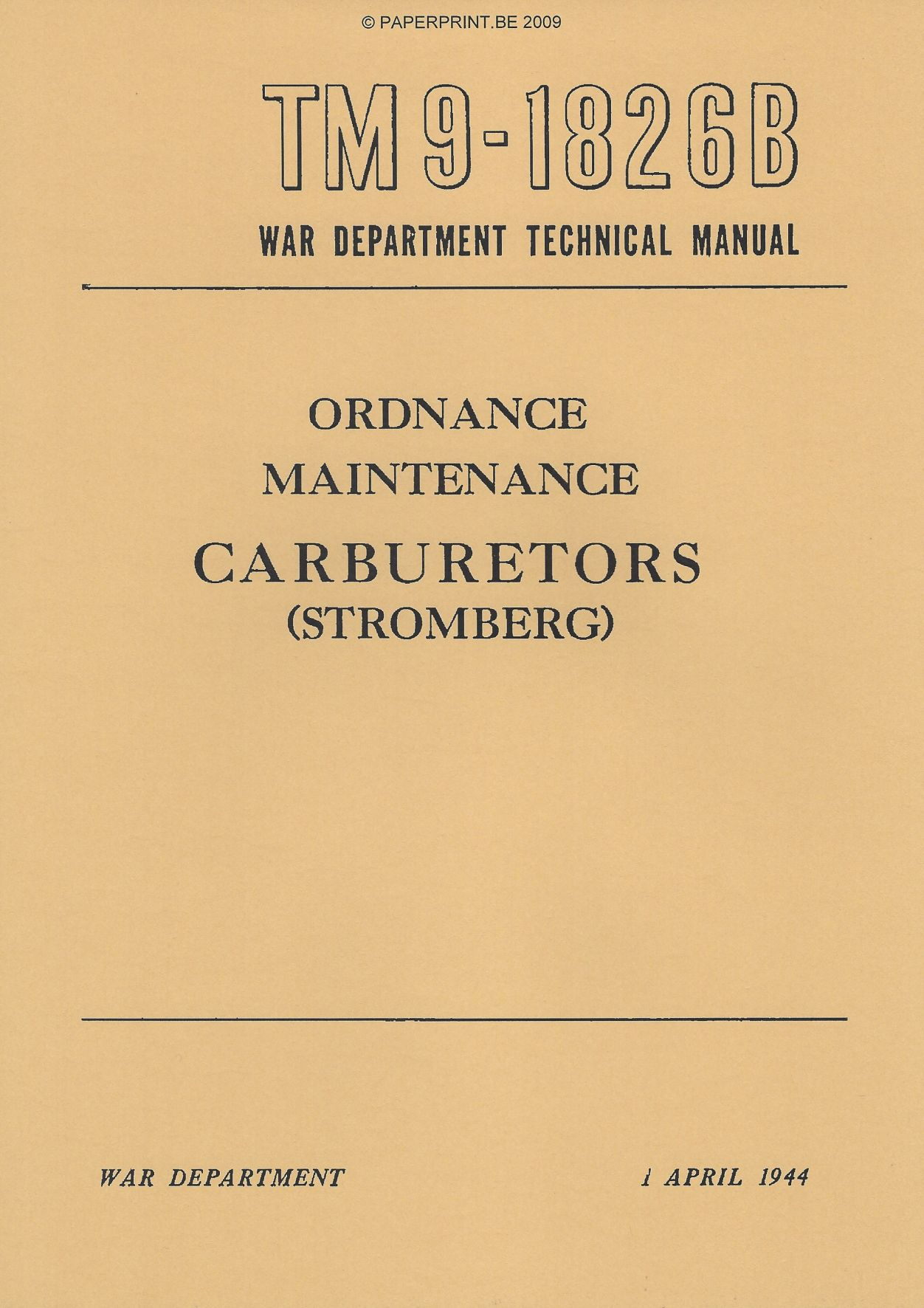 TM 9-1826B US CARBURETORS (STROMBERG)