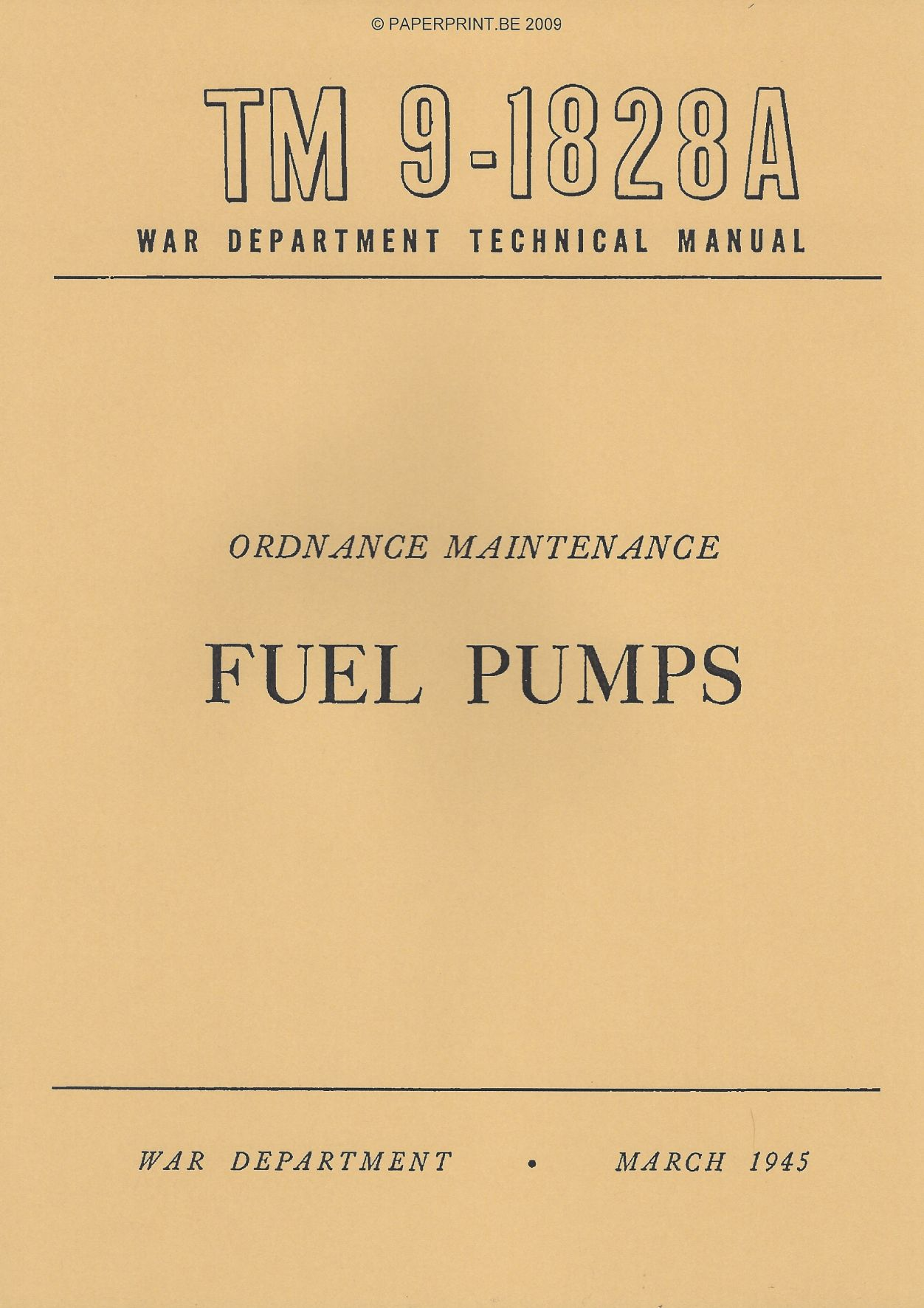 TM 9-1828A US FUEL PUMPS