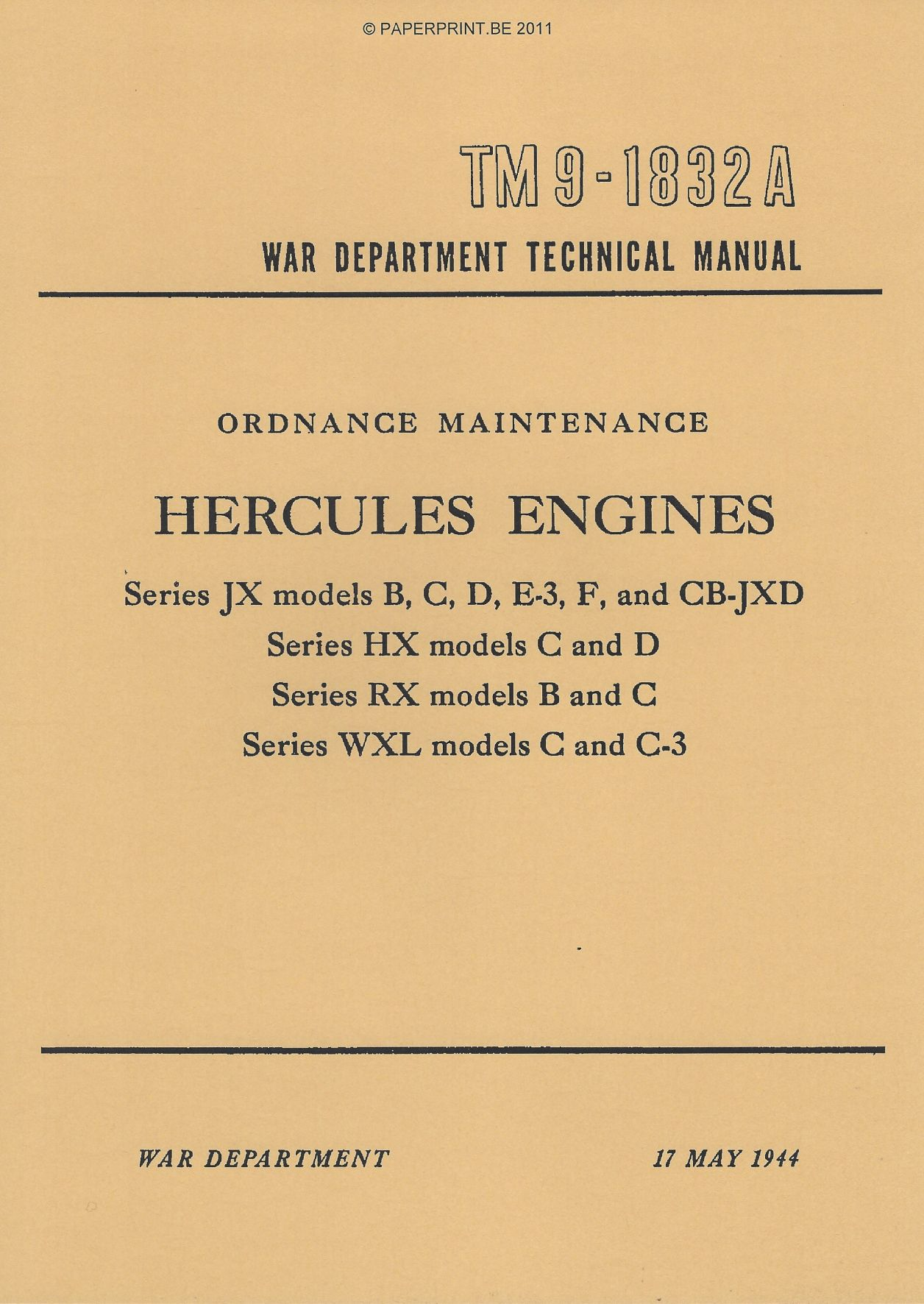 TM 9-1832A US HERCULES ENGINES
