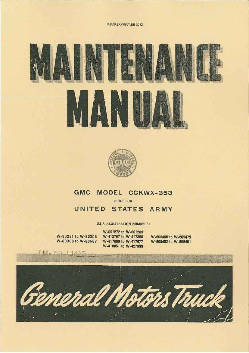 TM 10-1105 US GMC MODEL CCKWX-353