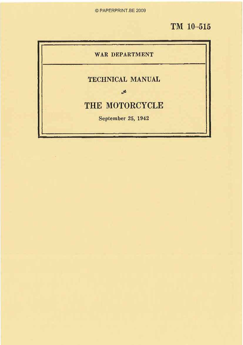 TM 10-515 US THE MOTORCYCLE