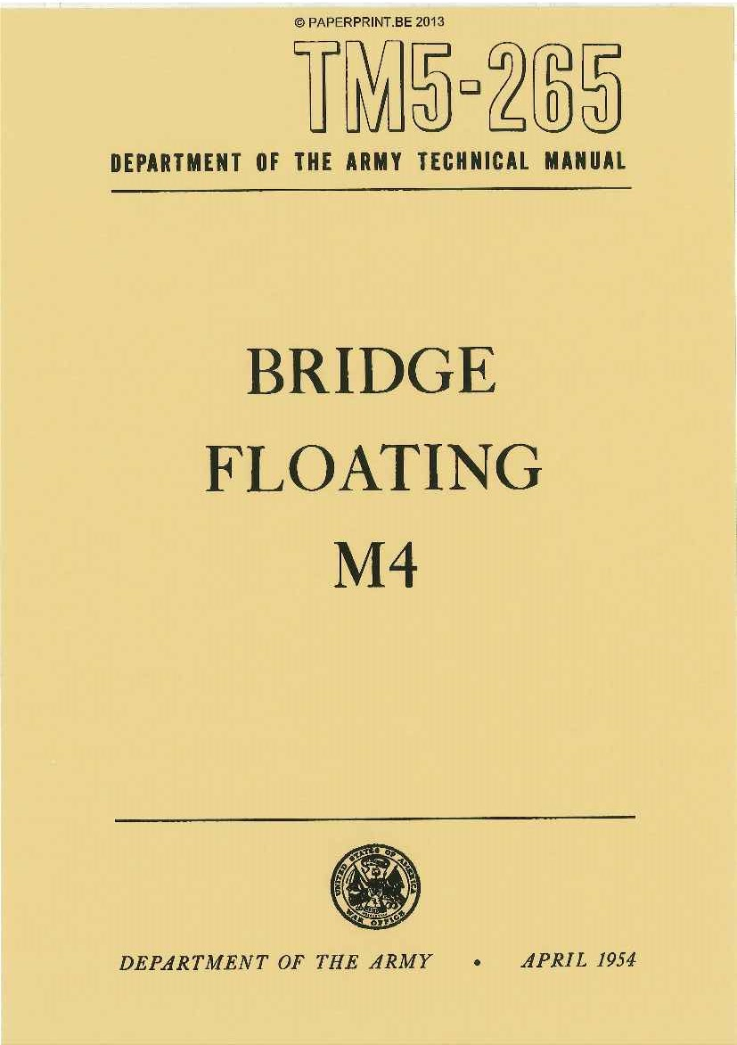 TM 5-265 US BRIDGE FLOATING M4 (GMC BOLSTER TRUCK)