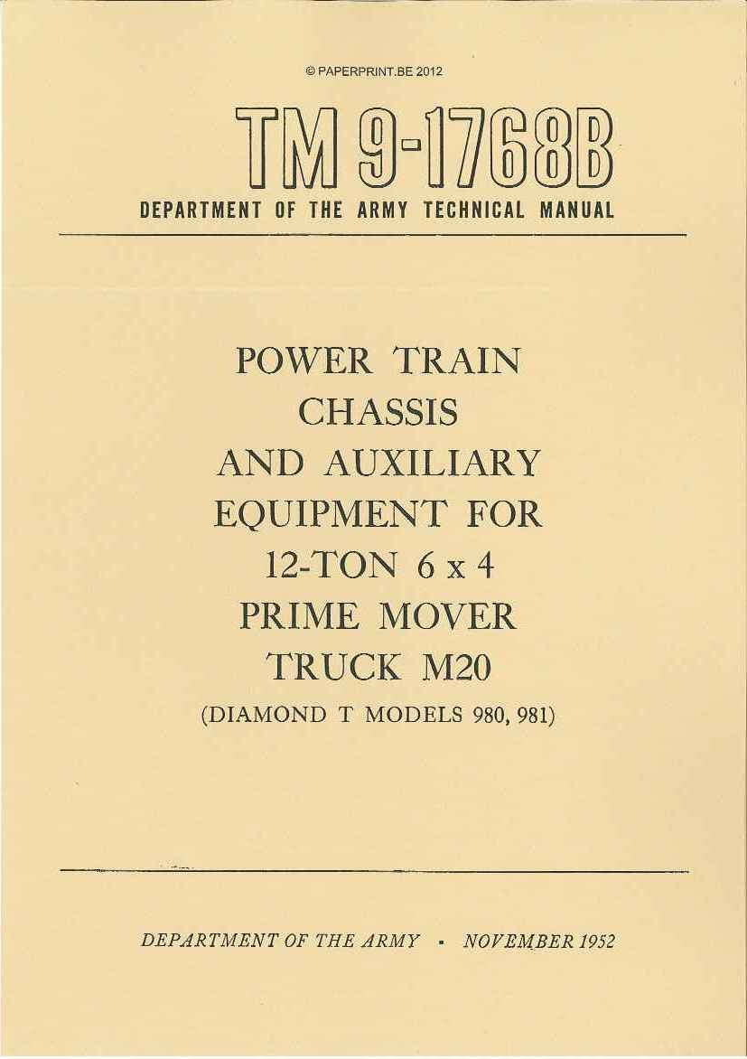 Tm 9 1768b Us Power Train Chassis And Auxiliary Equipment