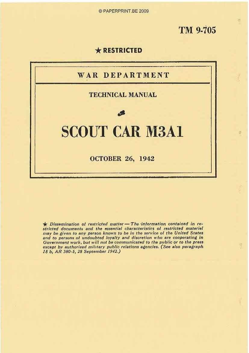 TM 9-705 US SCOUT CAR M3A1