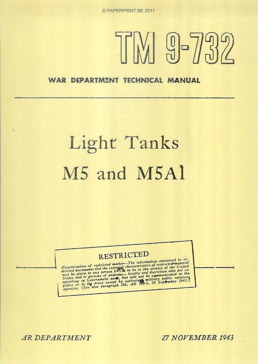 TM 9-732 US LIGHT TANKS M5 AND M5A1