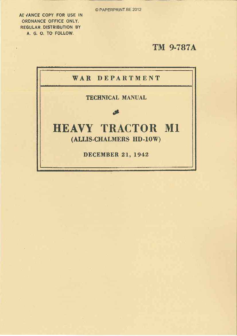TM 9-787A US HEAVY TRACTOR M1