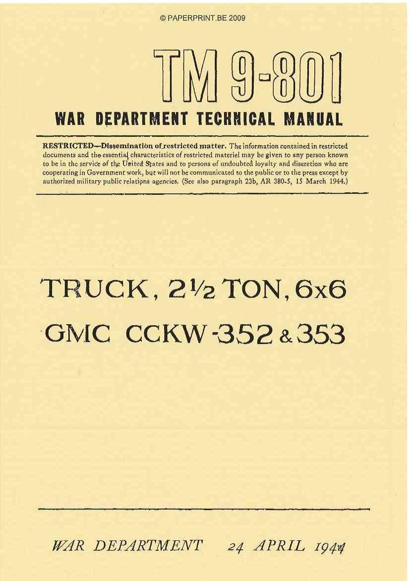 gmc cckw 353 & 352 pdf